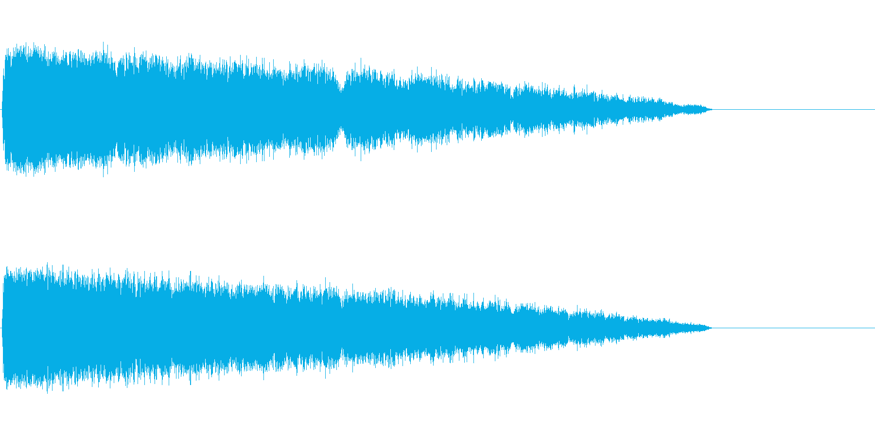 シュワーン系(魔法エフェクト発動)の再生済みの波形
