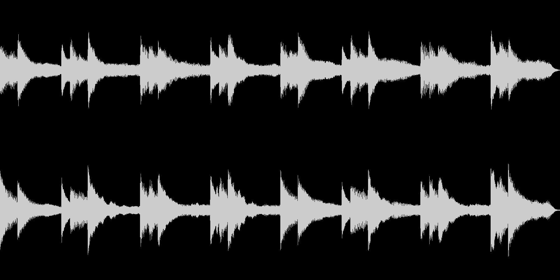 回想シーン、切ない場面にピッタリなBGMの未再生の波形