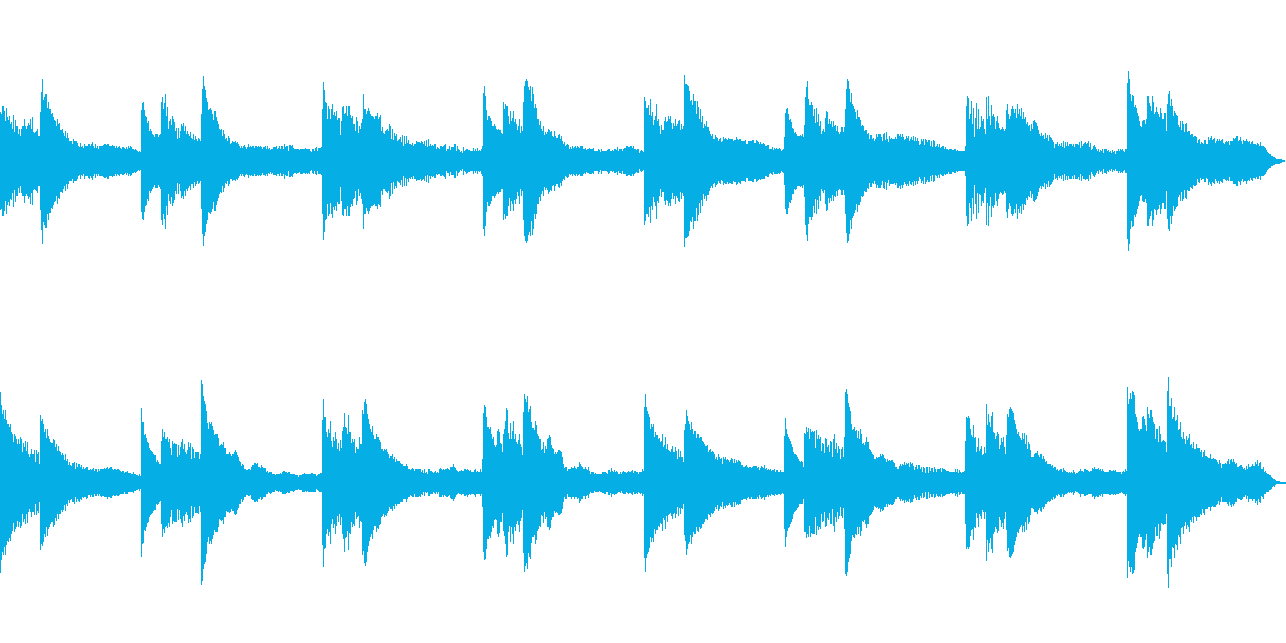 回想シーン、切ない場面にピッタリなBGMの再生済みの波形