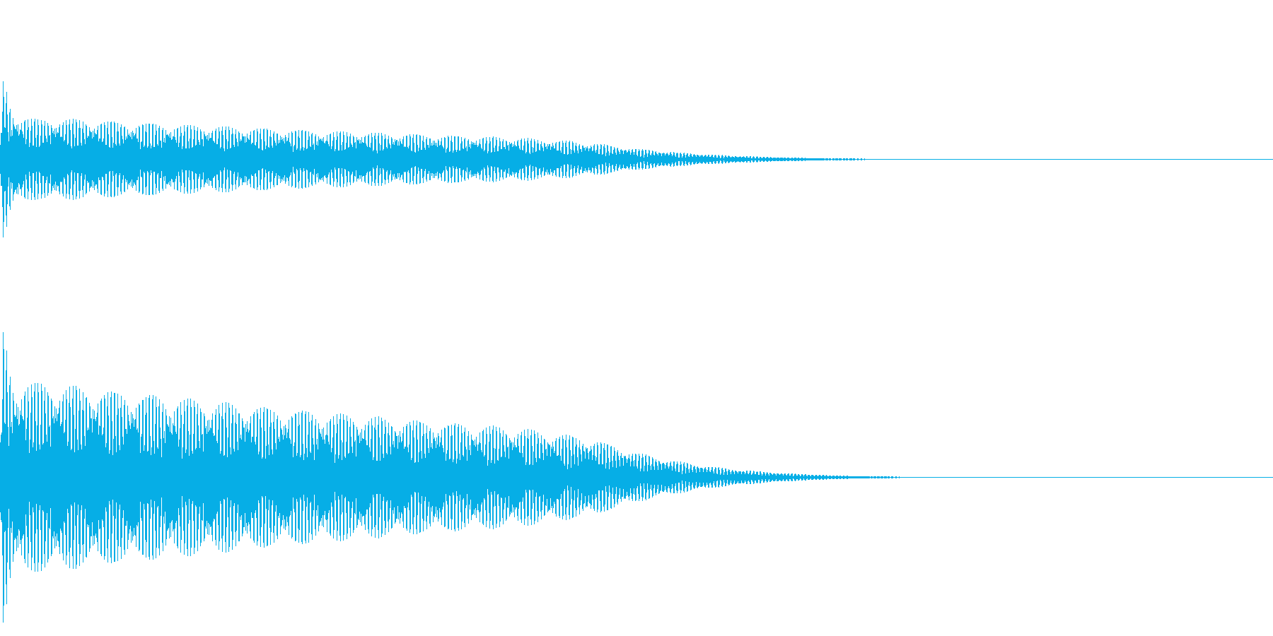 【SE 効果音】ポーンの再生済みの波形