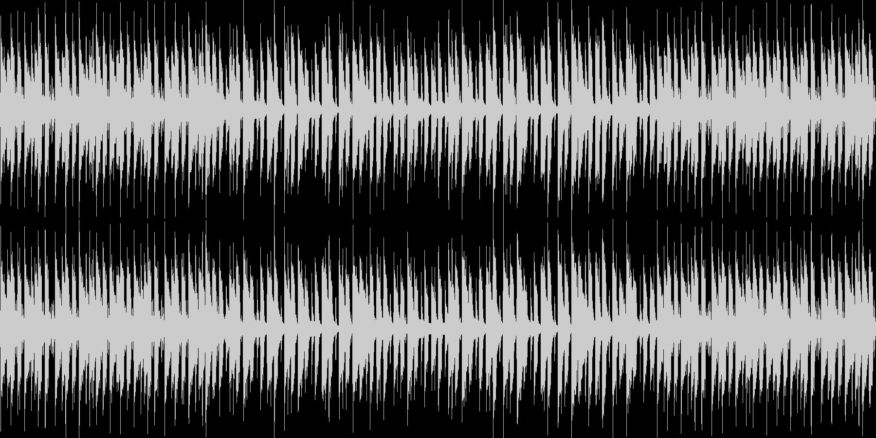 静かなボサノバ風BGMの未再生の波形