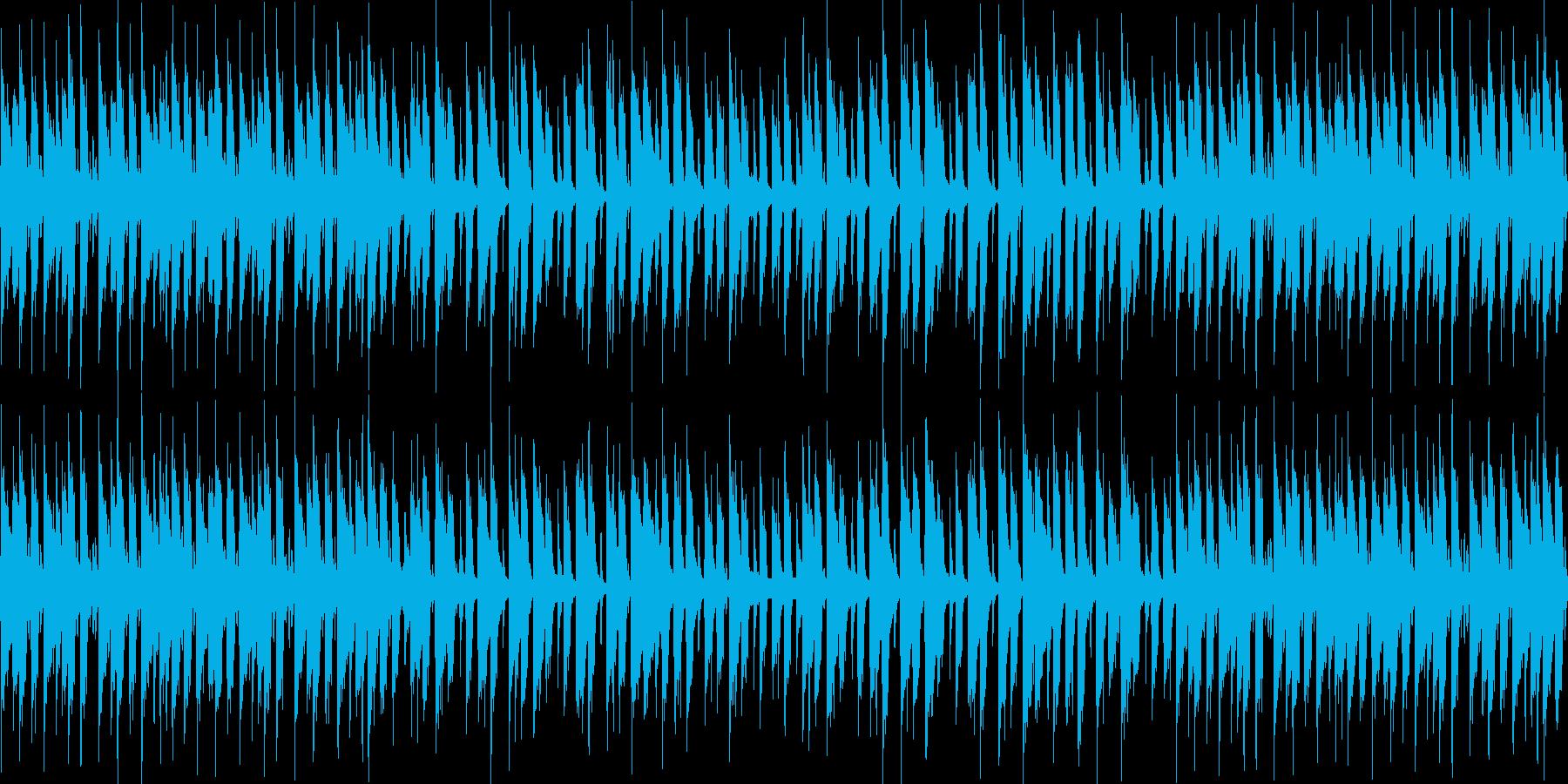 静かなボサノバ風BGMの再生済みの波形