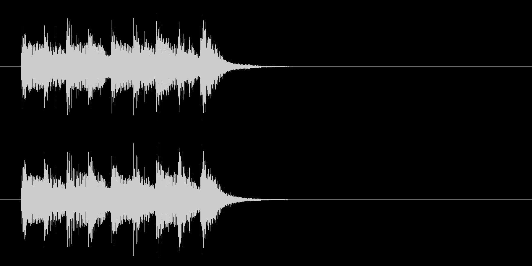 コーナー・タイトル風ワールド音楽の曲の未再生の波形
