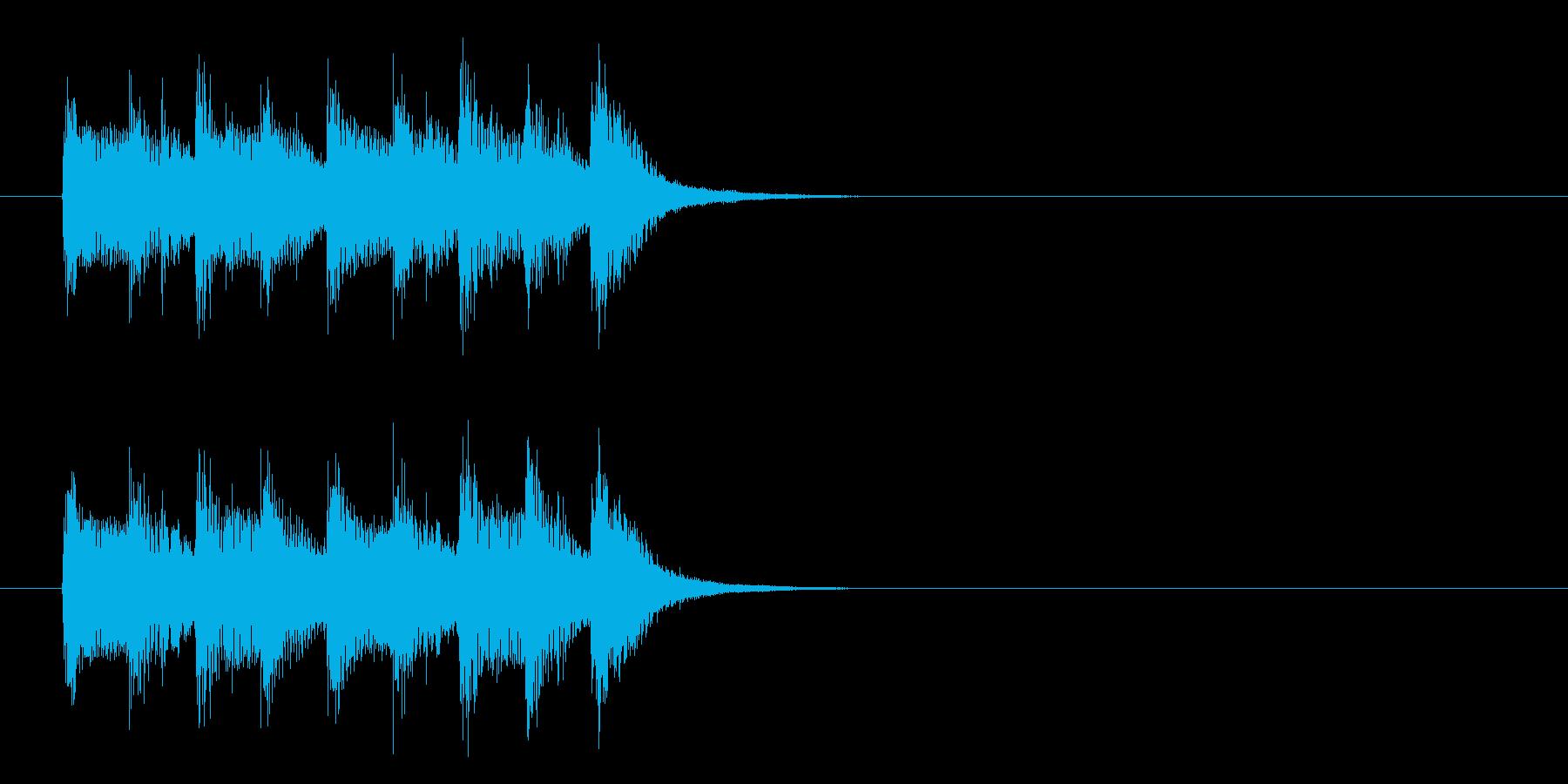 コーナー・タイトル風ワールド音楽の曲の再生済みの波形