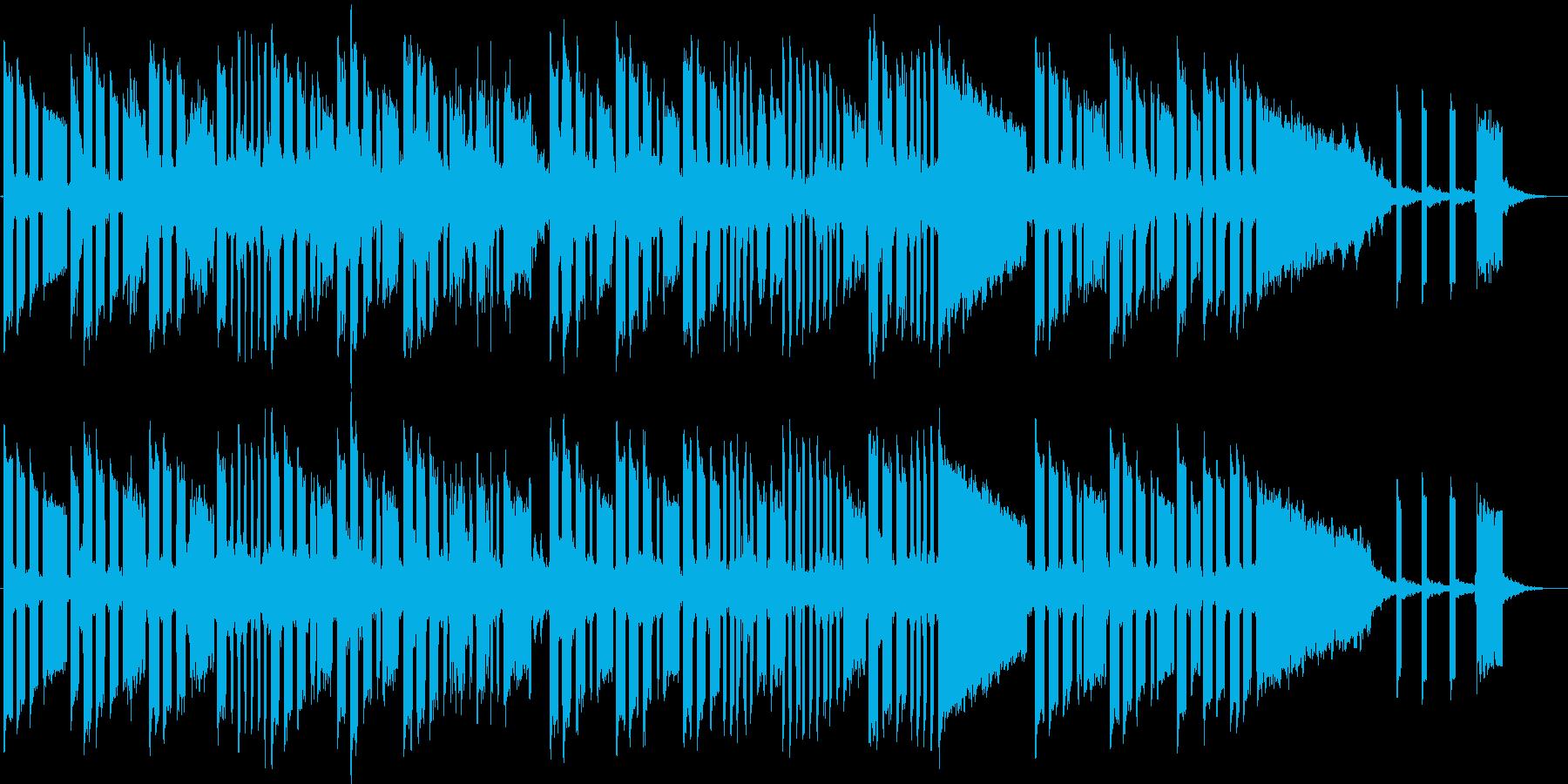 滑稽なシンセベースの不思議なジングルの再生済みの波形