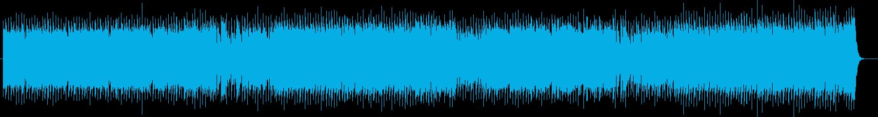軽快でフュージョンっぽいポップスの再生済みの波形
