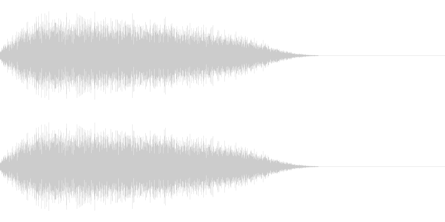 サーッ(スライディング/滑り込む)の未再生の波形