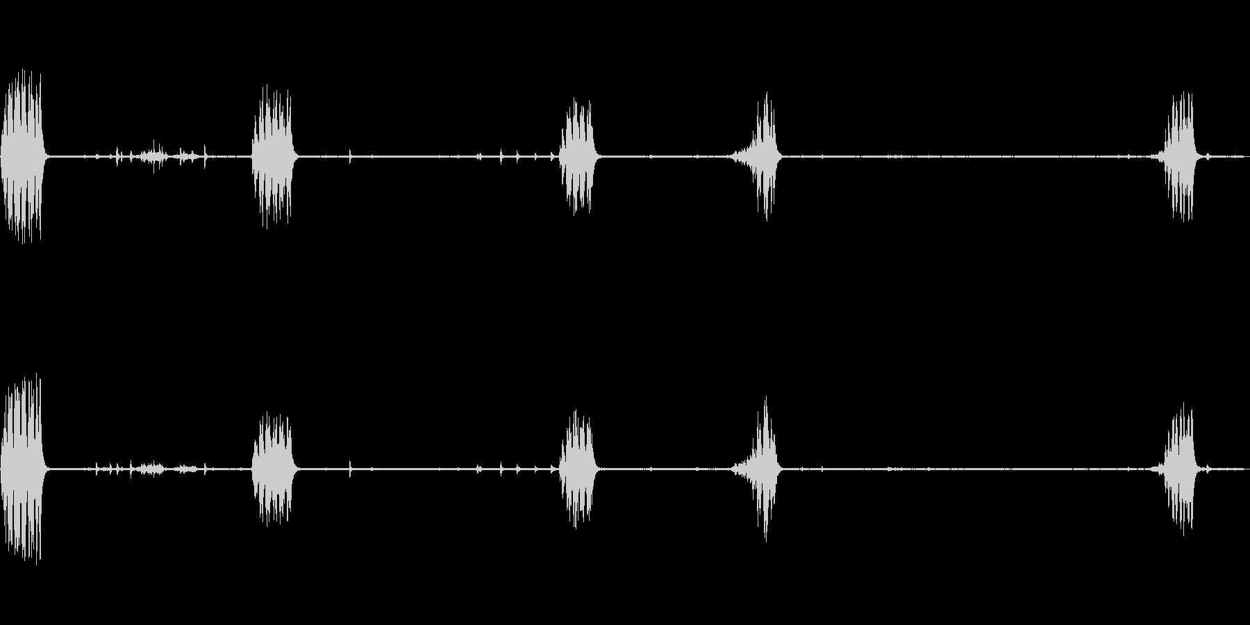 メボソムシクイ 鳥の鳴き声の未再生の波形