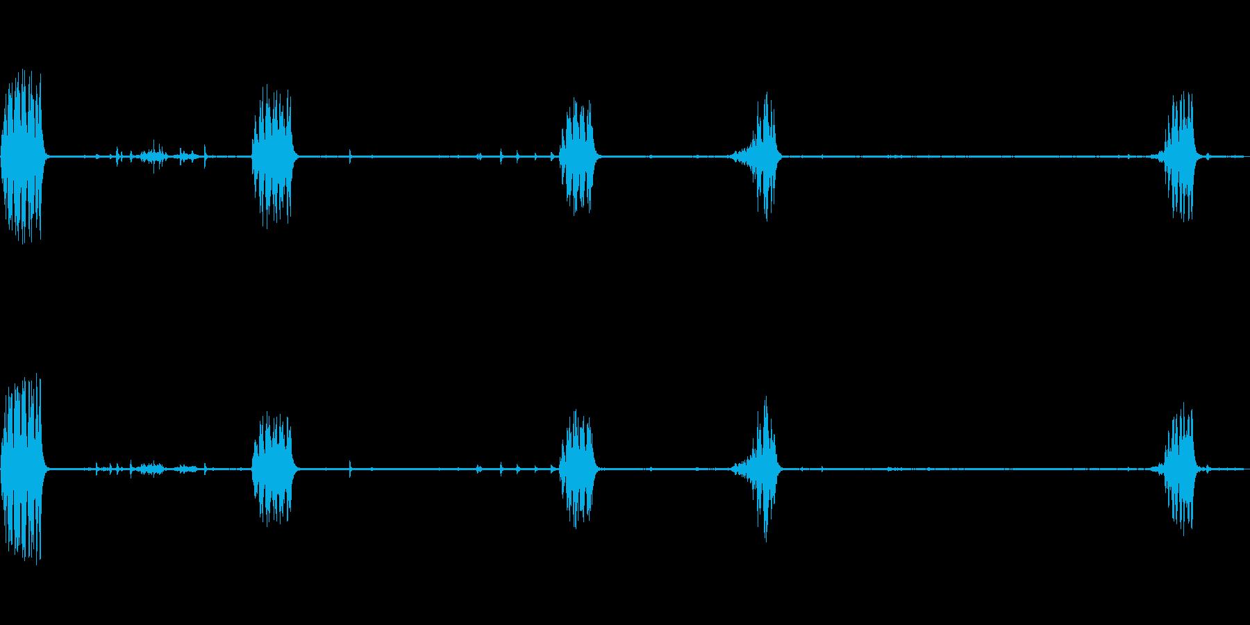 メボソムシクイ 鳥の鳴き声の再生済みの波形