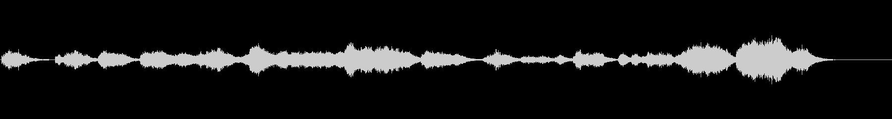 ホラー用アンビ系BGMの未再生の波形