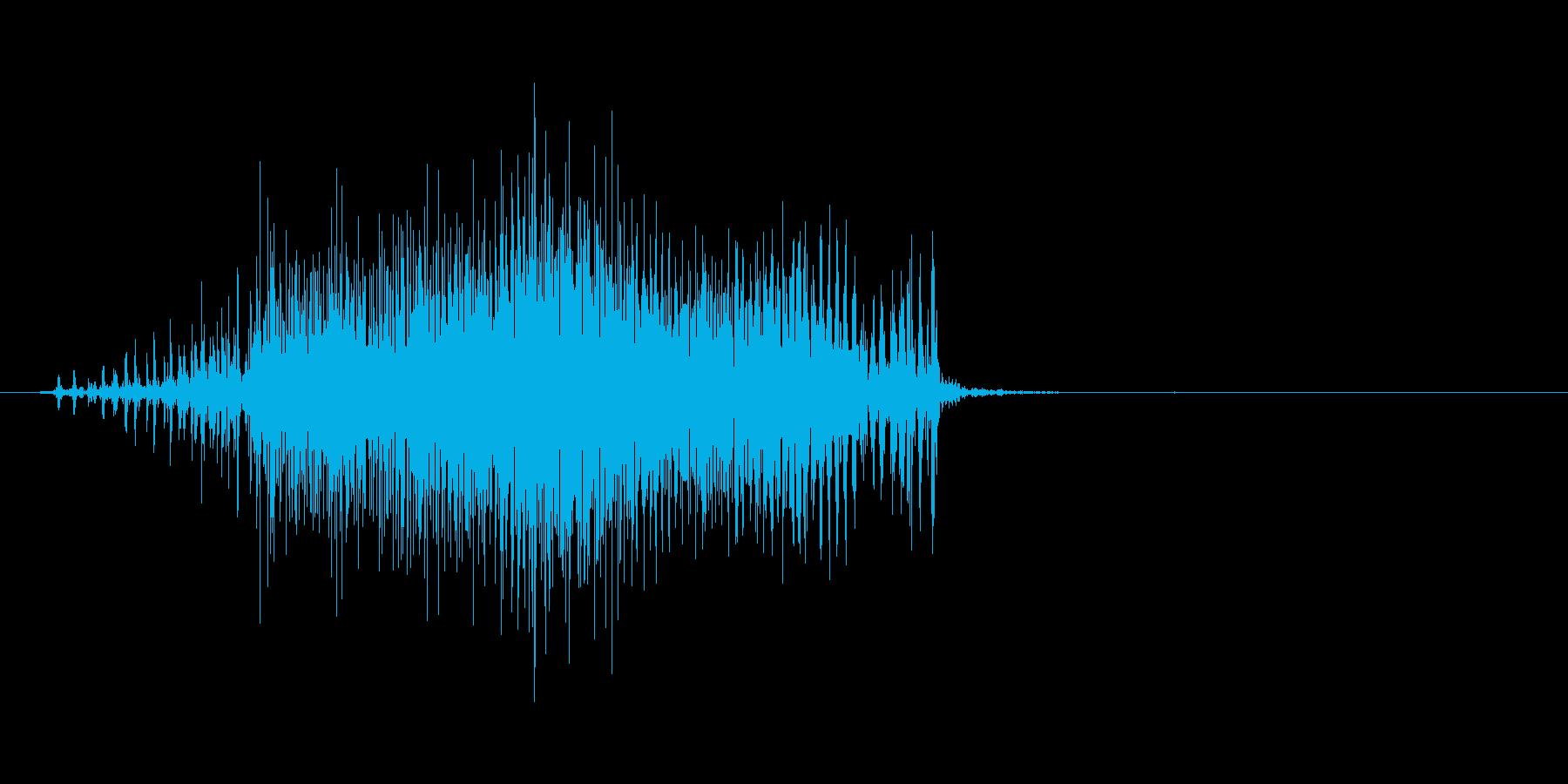 ジッパー(閉める、カバン、チャック)の再生済みの波形