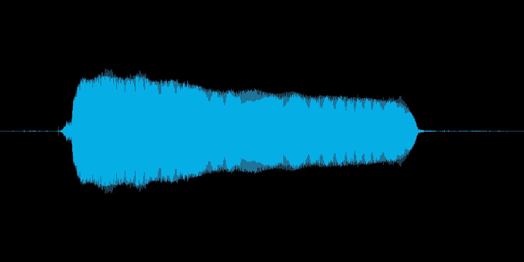 じーーーーーーーの再生済みの波形