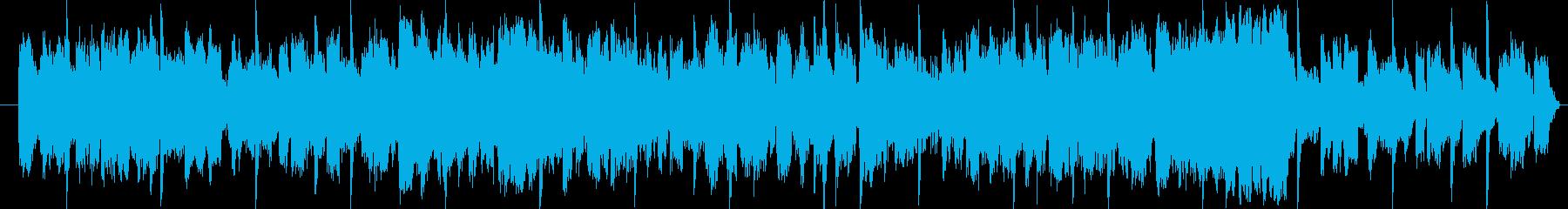 女性の声が印象的なおしゃれな15秒BGMの再生済みの波形