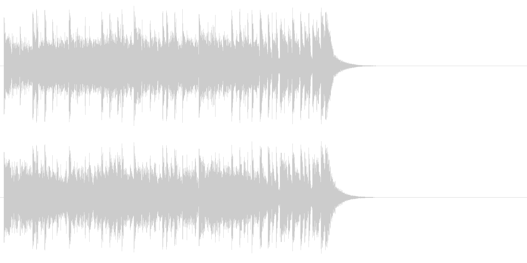 健やかなほのぼのポップ(サビ)の未再生の波形