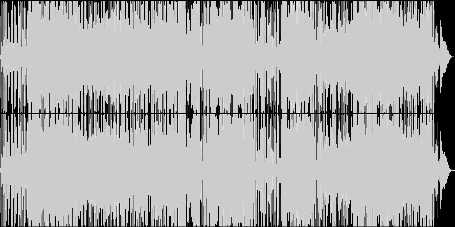 サックスの印象的なリズミカルなナンバーの未再生の波形