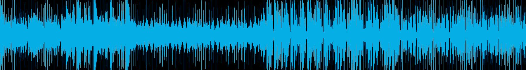 哀愁漂う軽快なラテン系民族音楽の再生済みの波形