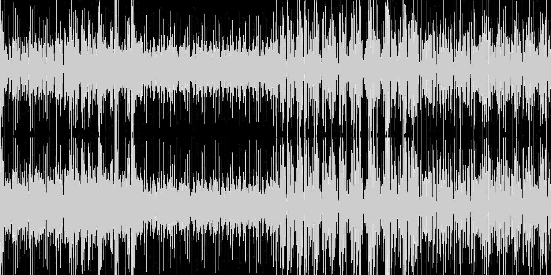 哀愁漂う軽快なラテン系民族音楽の未再生の波形