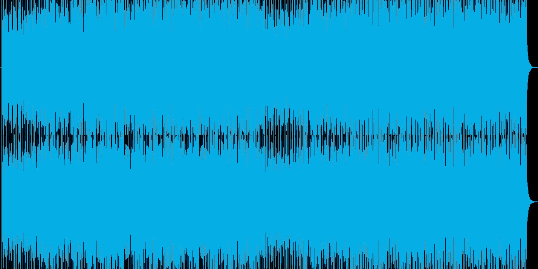 軽快なサウンドの再生済みの波形