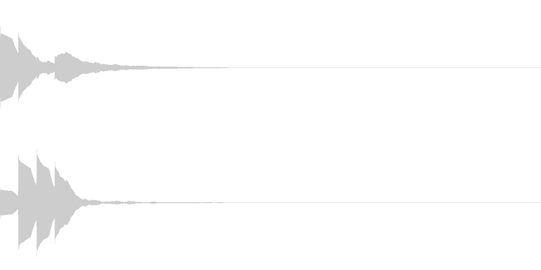 Quiz 美しい残響の正解ピンポン音 2の未再生の波形