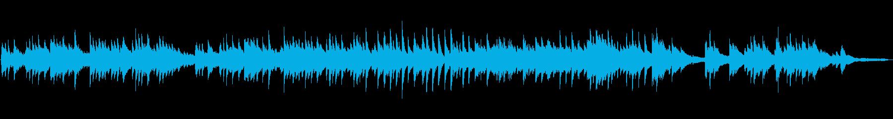 2分の切ないピアノソロ楽曲(柔らかい音色の再生済みの波形
