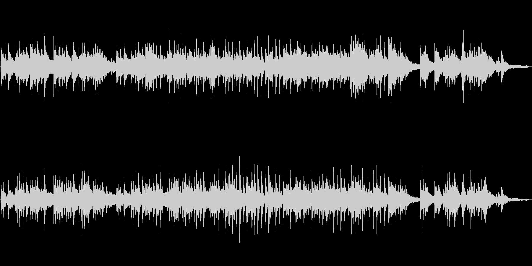 2分の切ないピアノソロ楽曲(柔らかい音色の未再生の波形