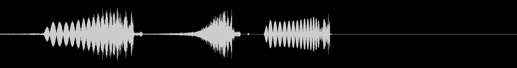 DJミキサー卓でのスクラッチ音の未再生の波形