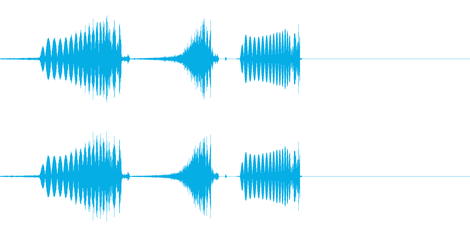 DJミキサー卓でのスクラッチ音の再生済みの波形