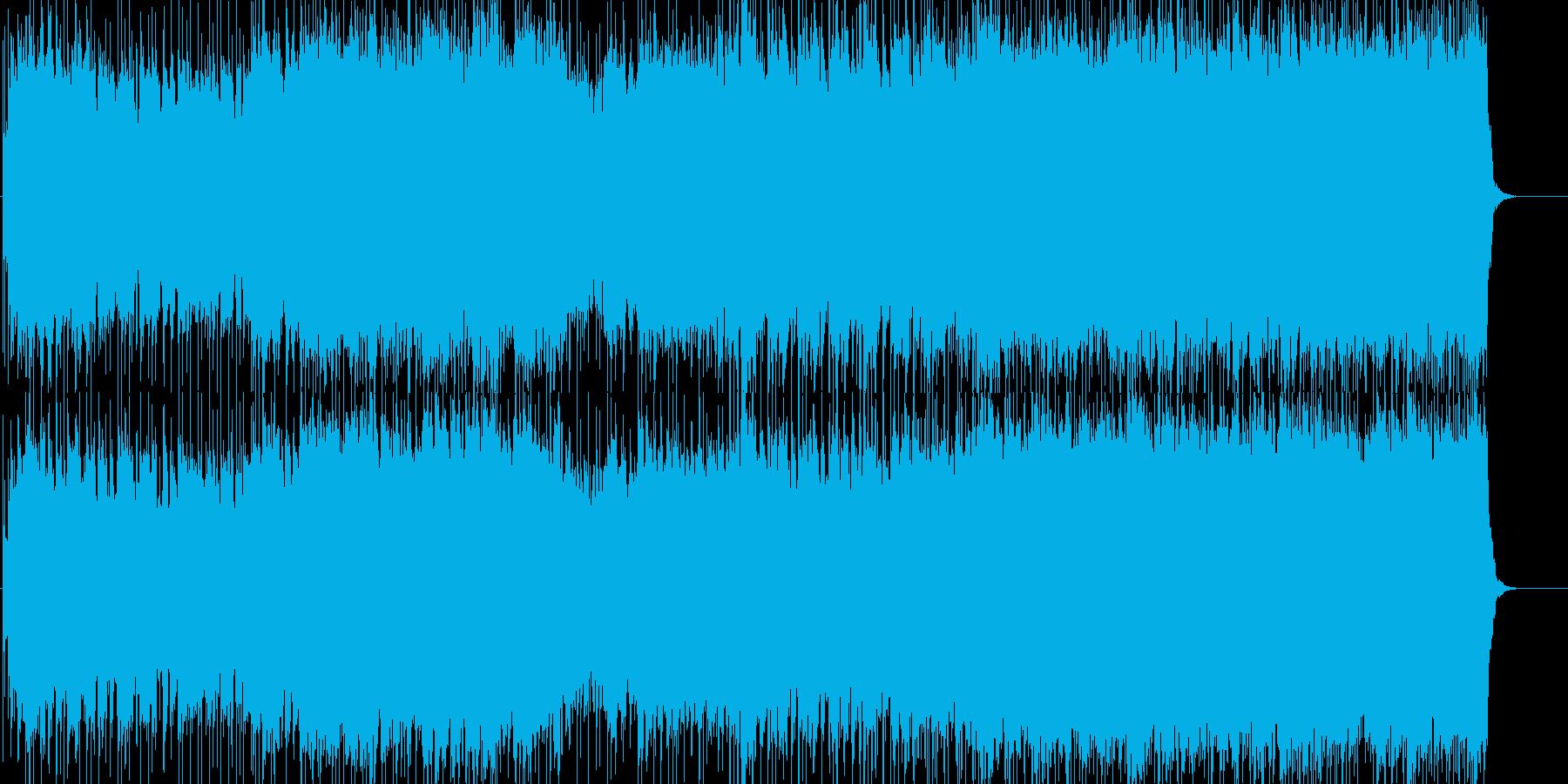 エネルギッシュで爽やかなロックの再生済みの波形
