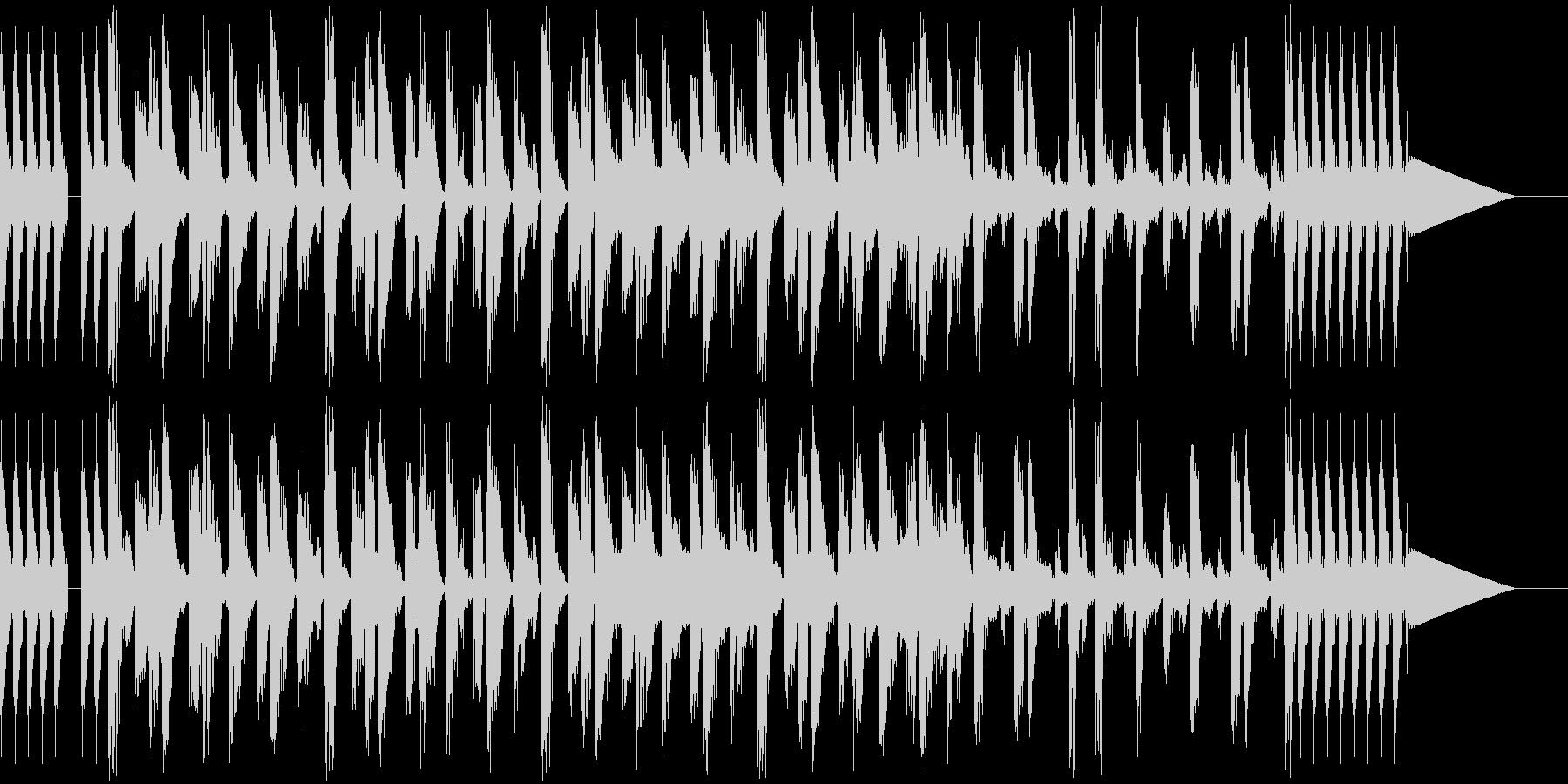 わくわくするポップなBGMの未再生の波形