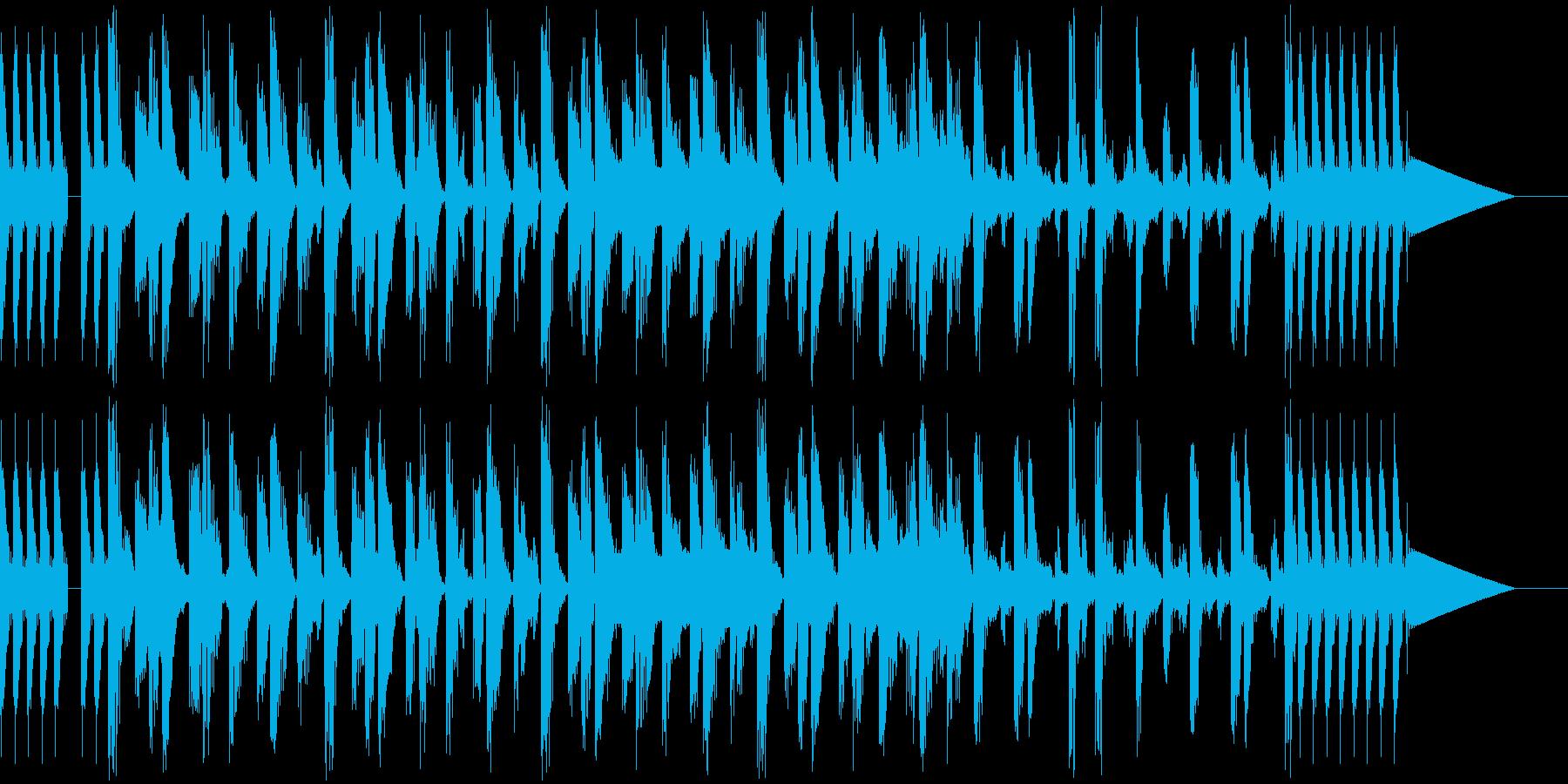 わくわくするポップなBGMの再生済みの波形
