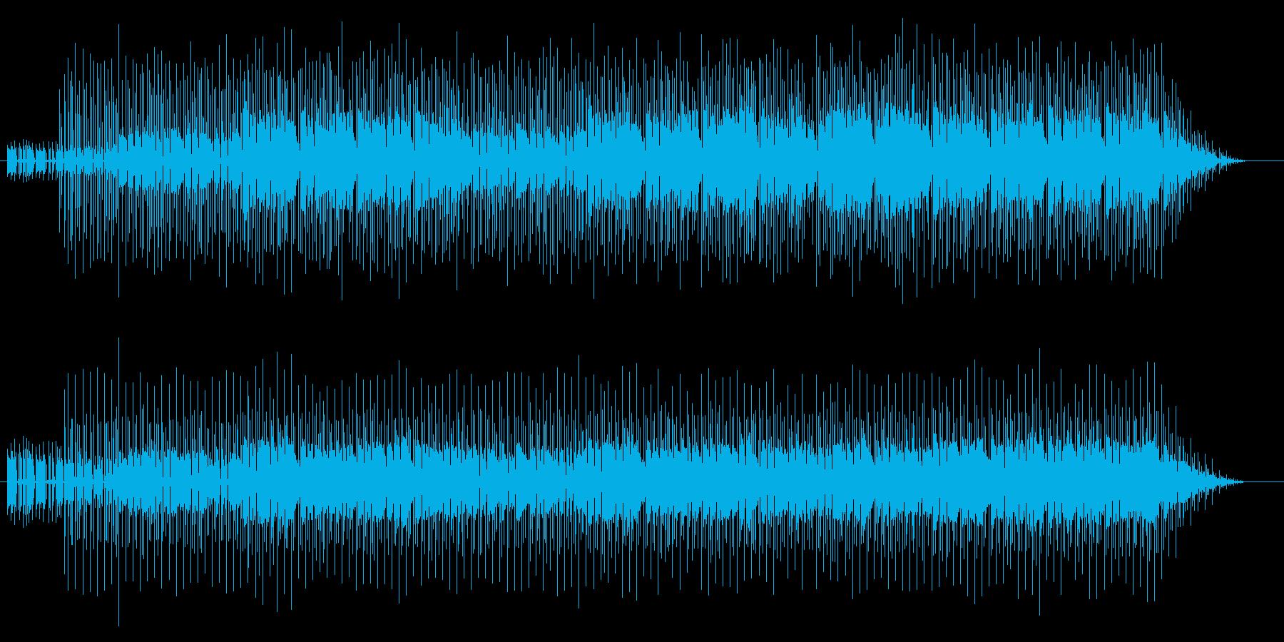 ほのぼのしたジャズの再生済みの波形