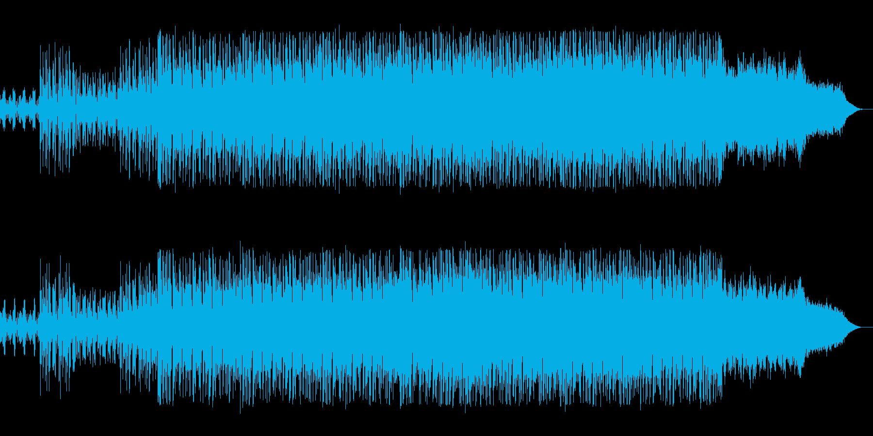 宇宙や近未来感のシンセサウンドの再生済みの波形