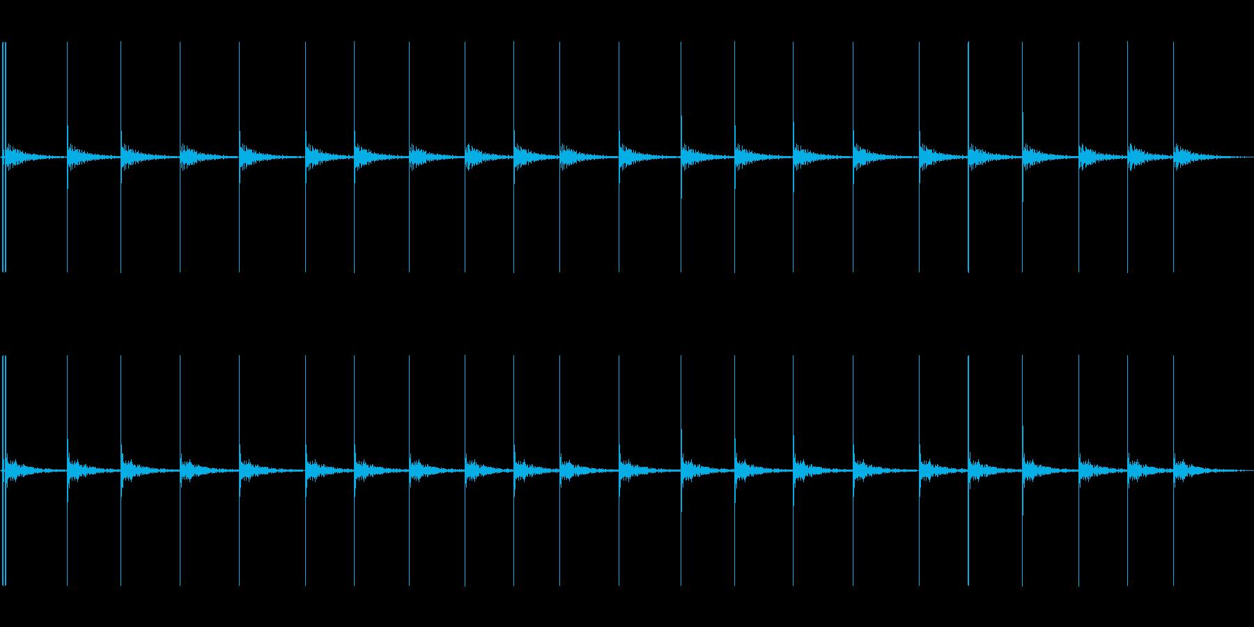 コツコツコツの再生済みの波形
