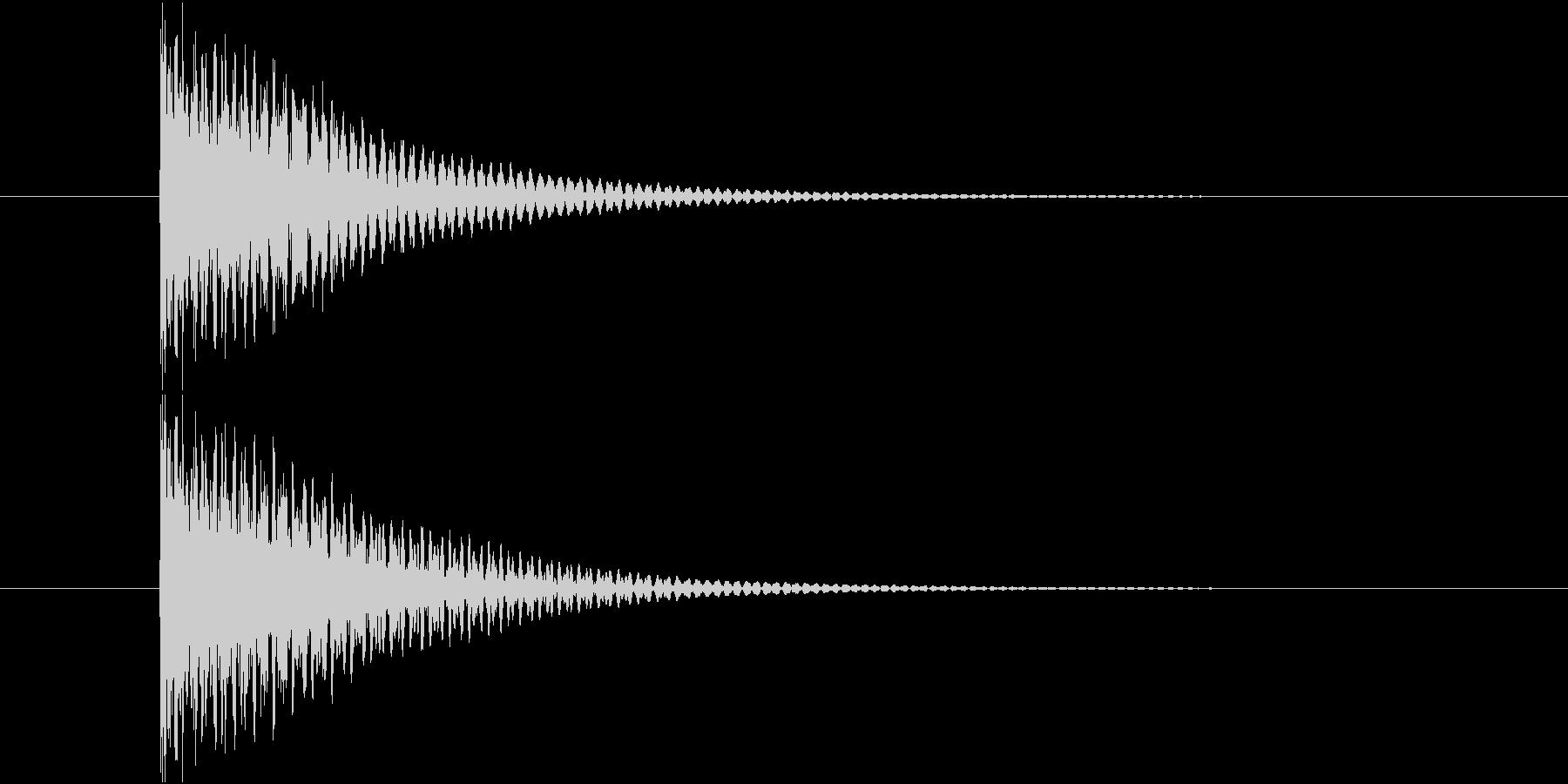 短めの選択音です。の未再生の波形