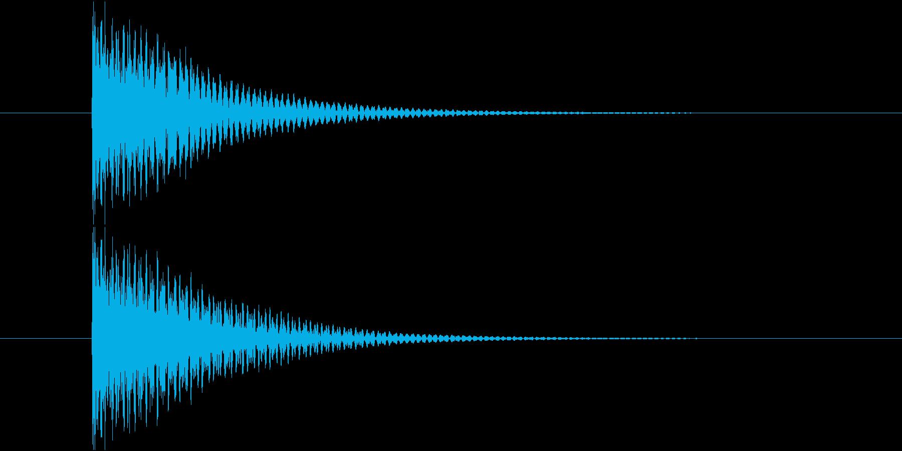 短めの選択音です。の再生済みの波形