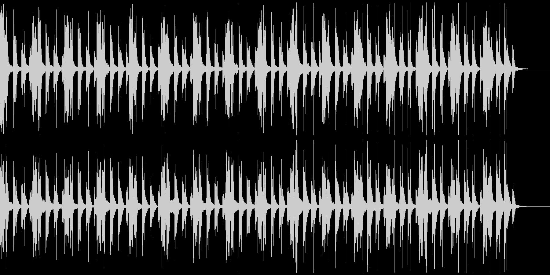 ブラスのシンプルな曲の未再生の波形