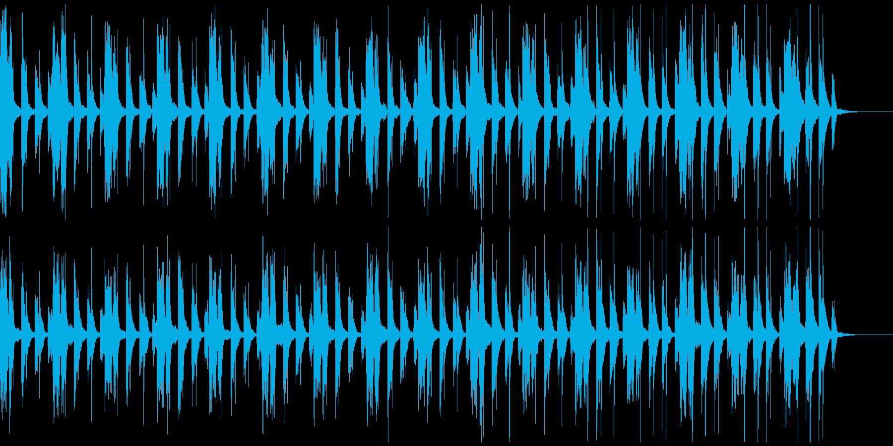 ブラスのシンプルな曲の再生済みの波形
