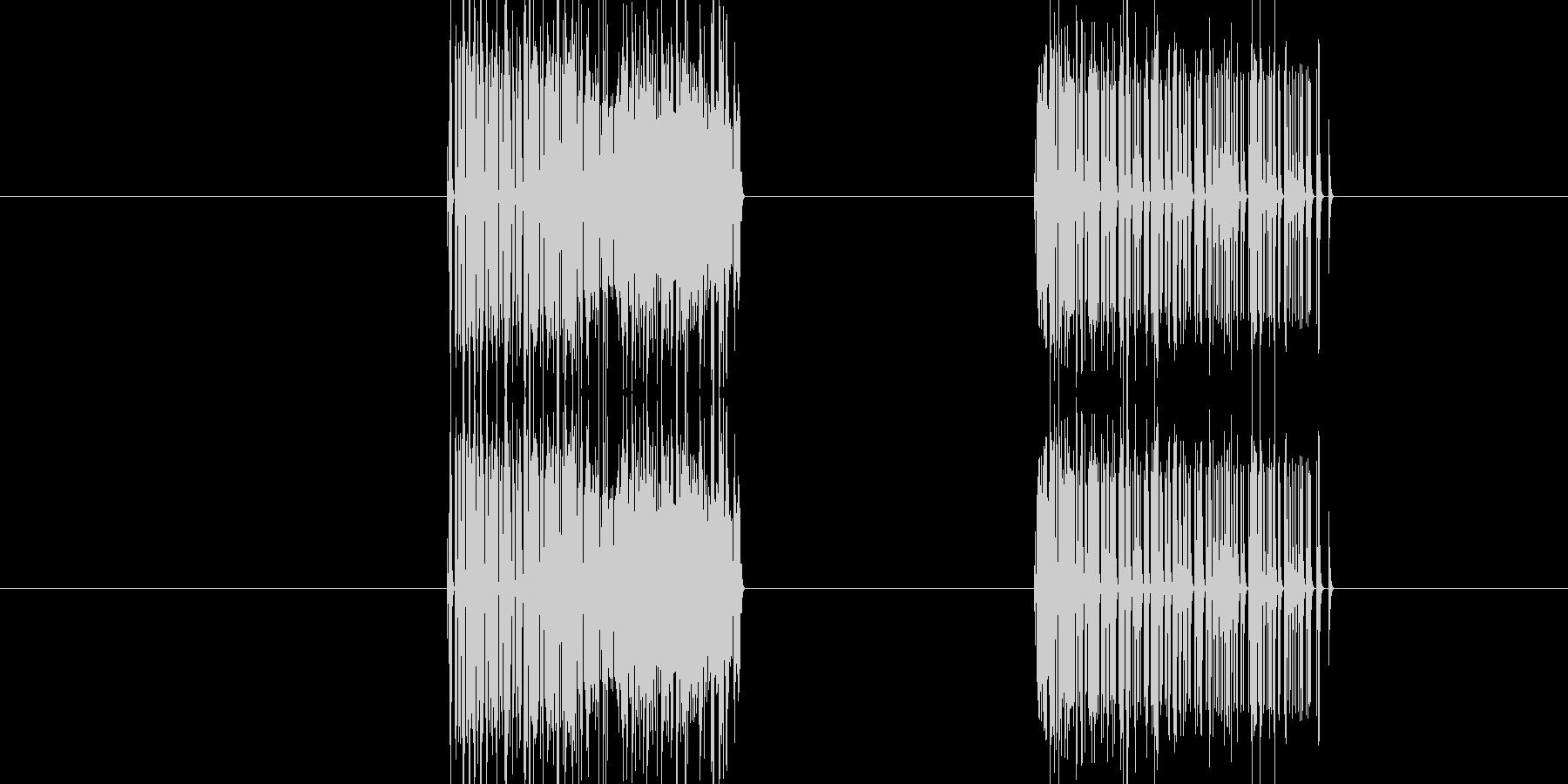 ガーッガーッ(ノイズ音)の未再生の波形