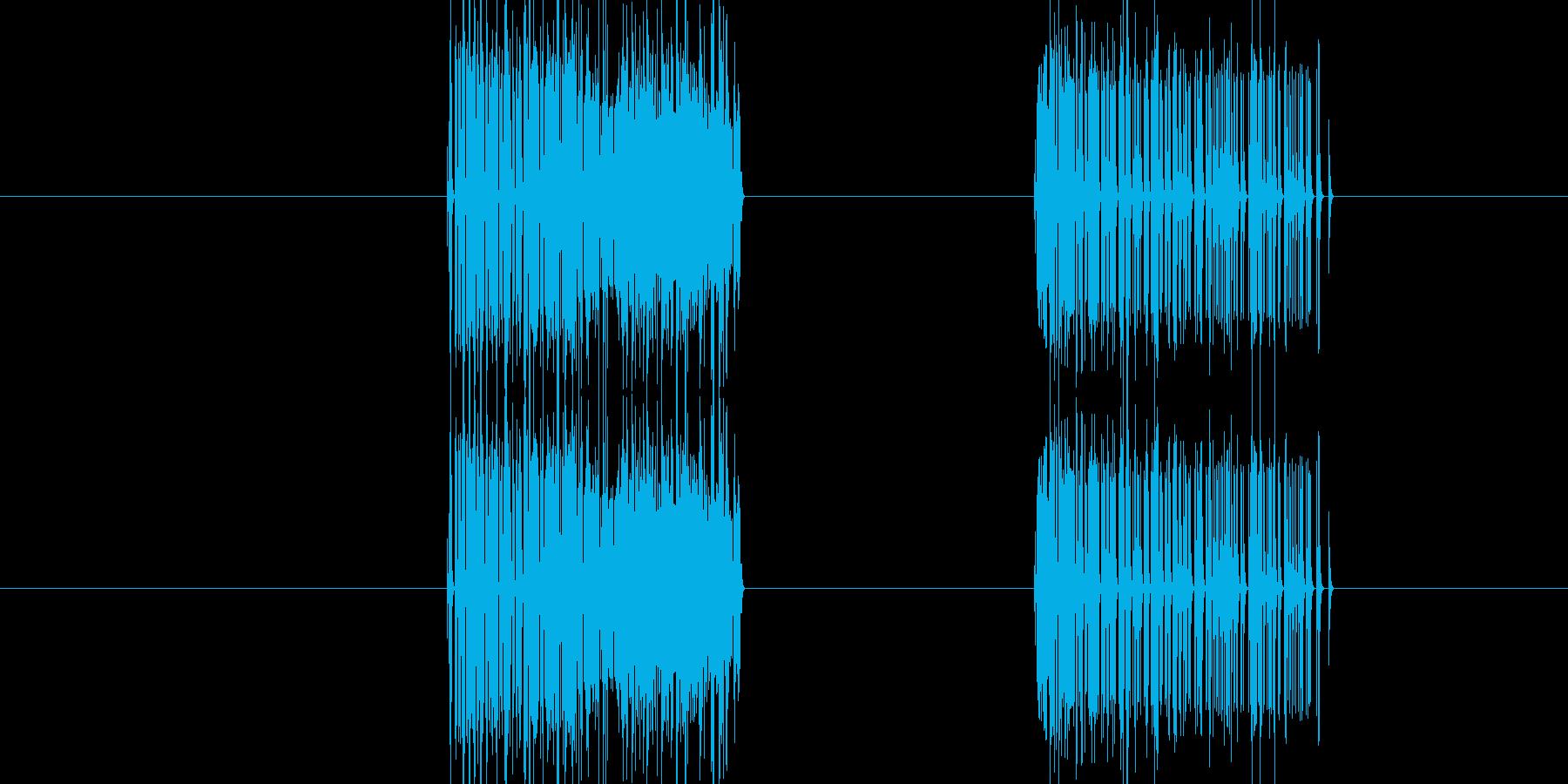 ガーッガーッ(ノイズ音)の再生済みの波形