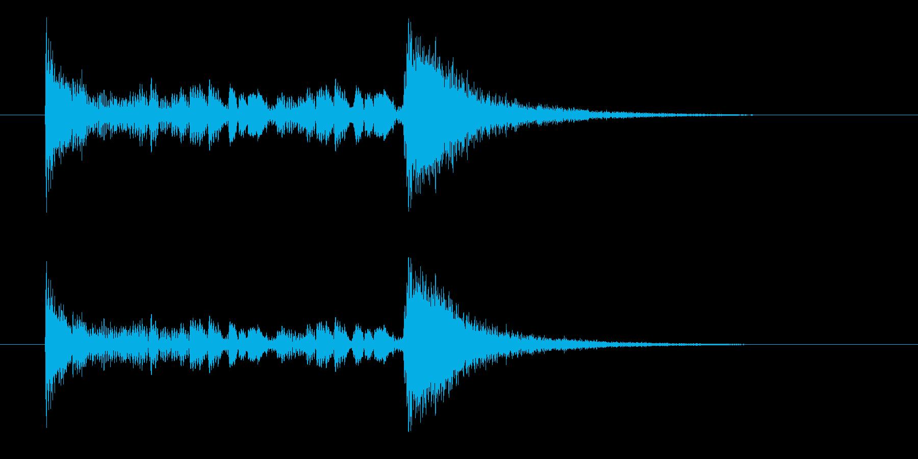 ドンドロドロ…ジャン!の再生済みの波形