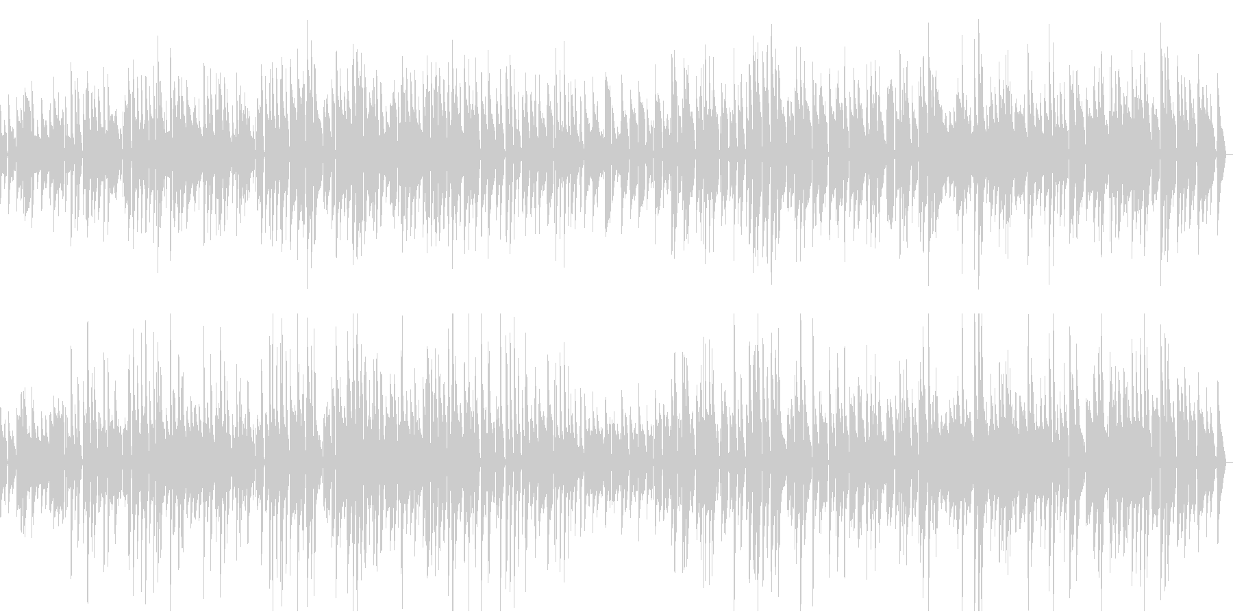 しっとり大人のジャズの未再生の波形