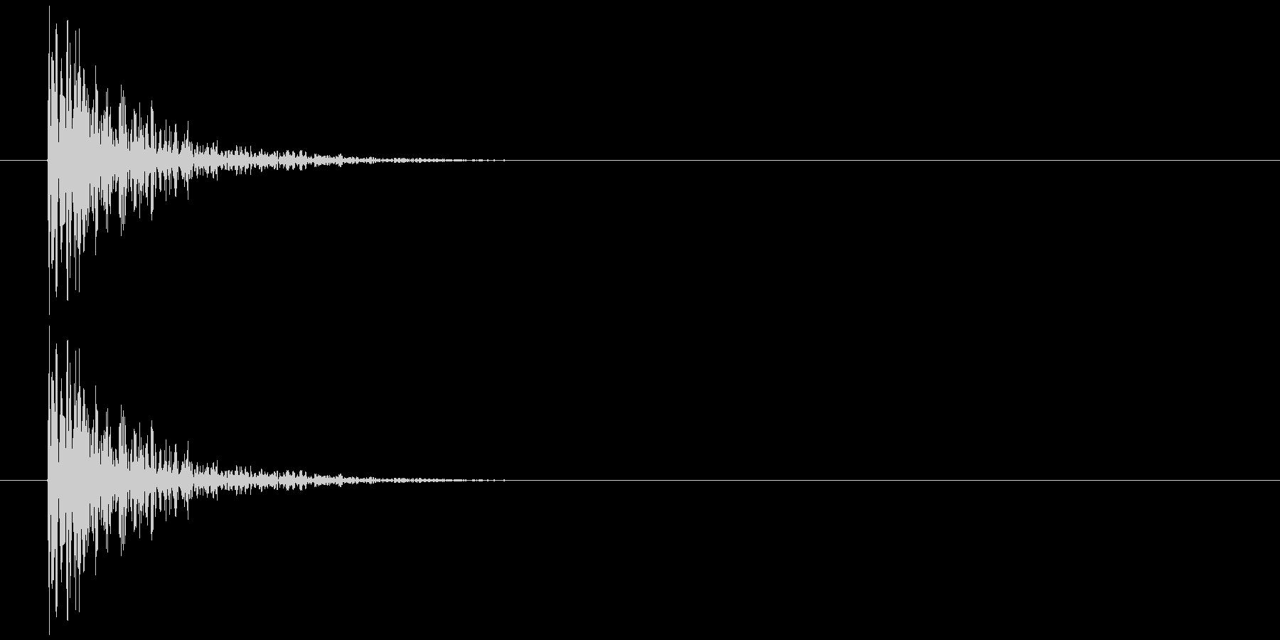 板を叩く音1の未再生の波形