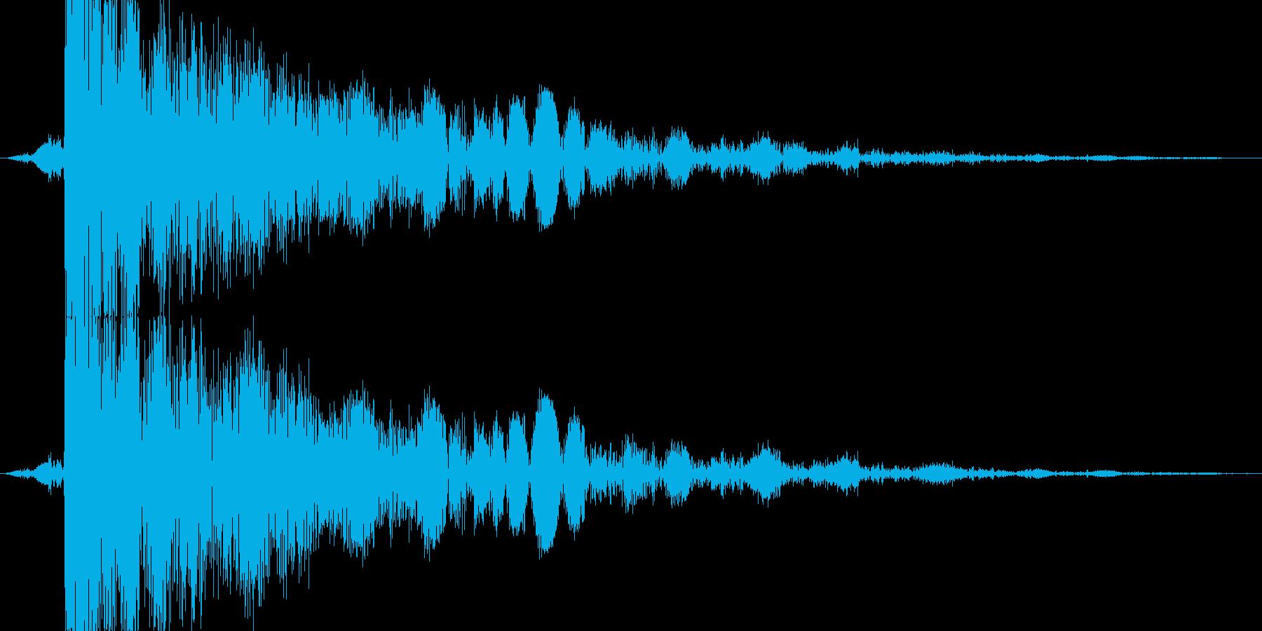 【格闘】打撃をガードする、受け止める音の再生済みの波形