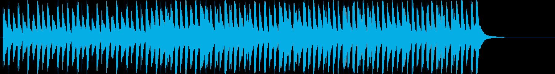 クリスマスソング「ひいらぎ飾ろう」の再生済みの波形