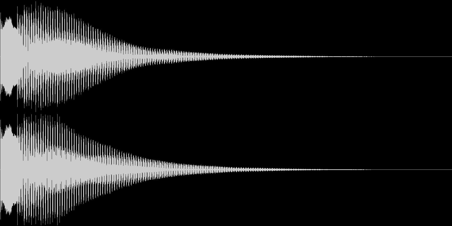 キャンセル音、失敗音の未再生の波形