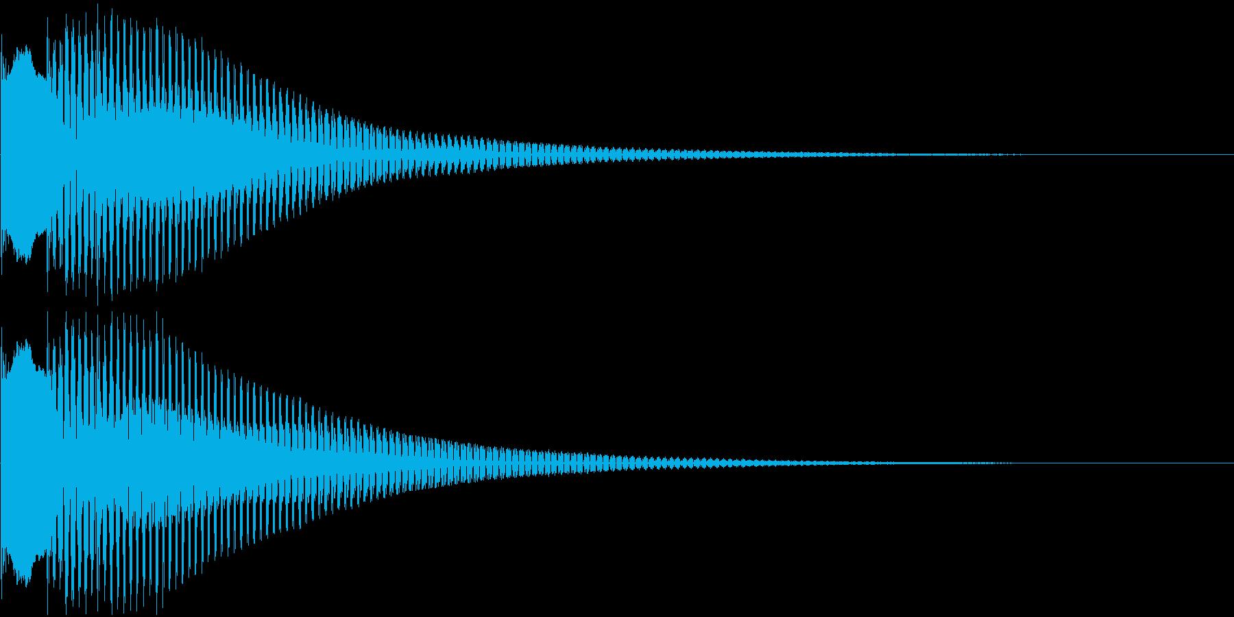 キャンセル音、失敗音の再生済みの波形
