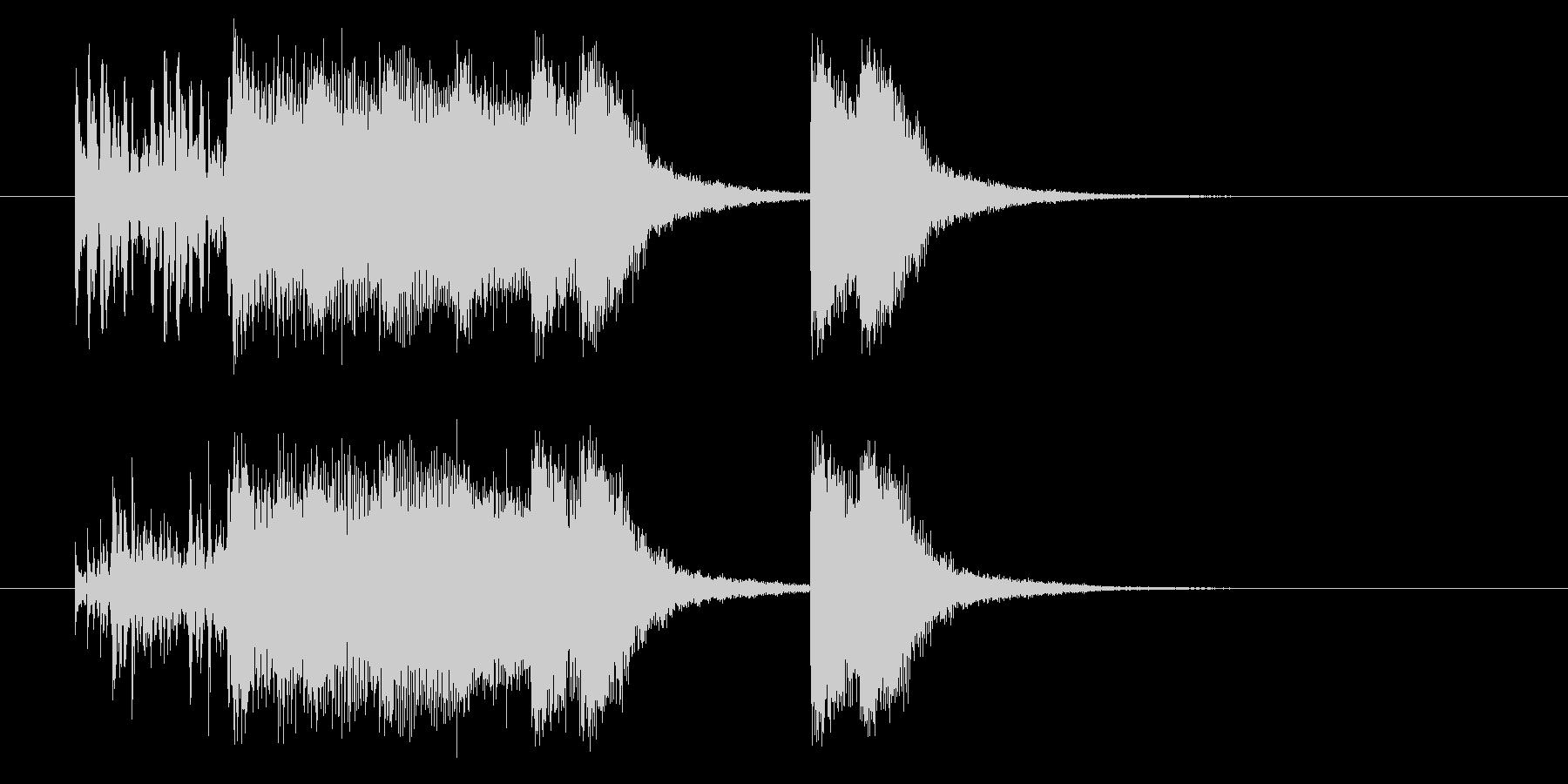 ワイルドハードなパンクジングルの未再生の波形