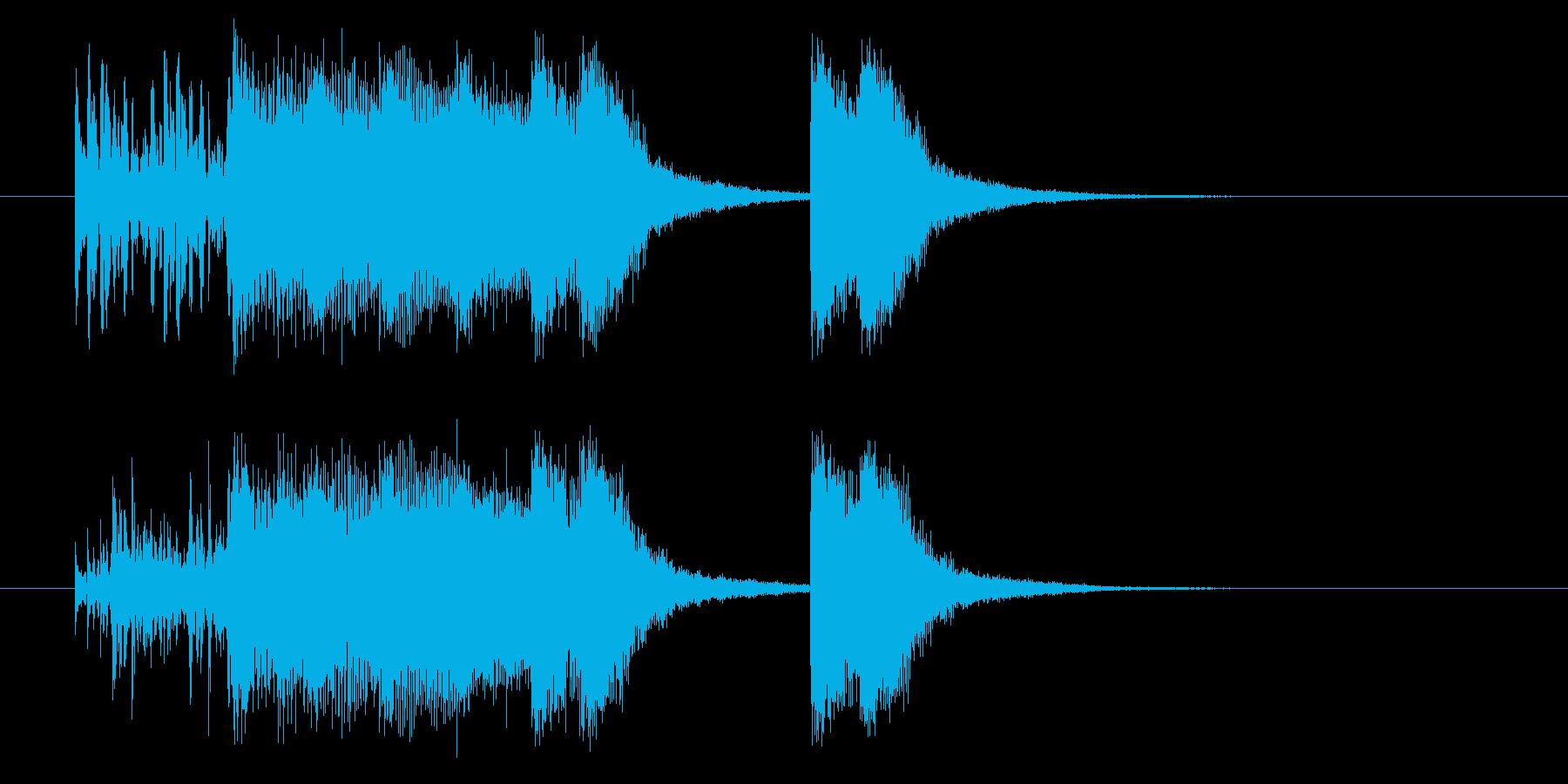 ワイルドハードなパンクジングルの再生済みの波形