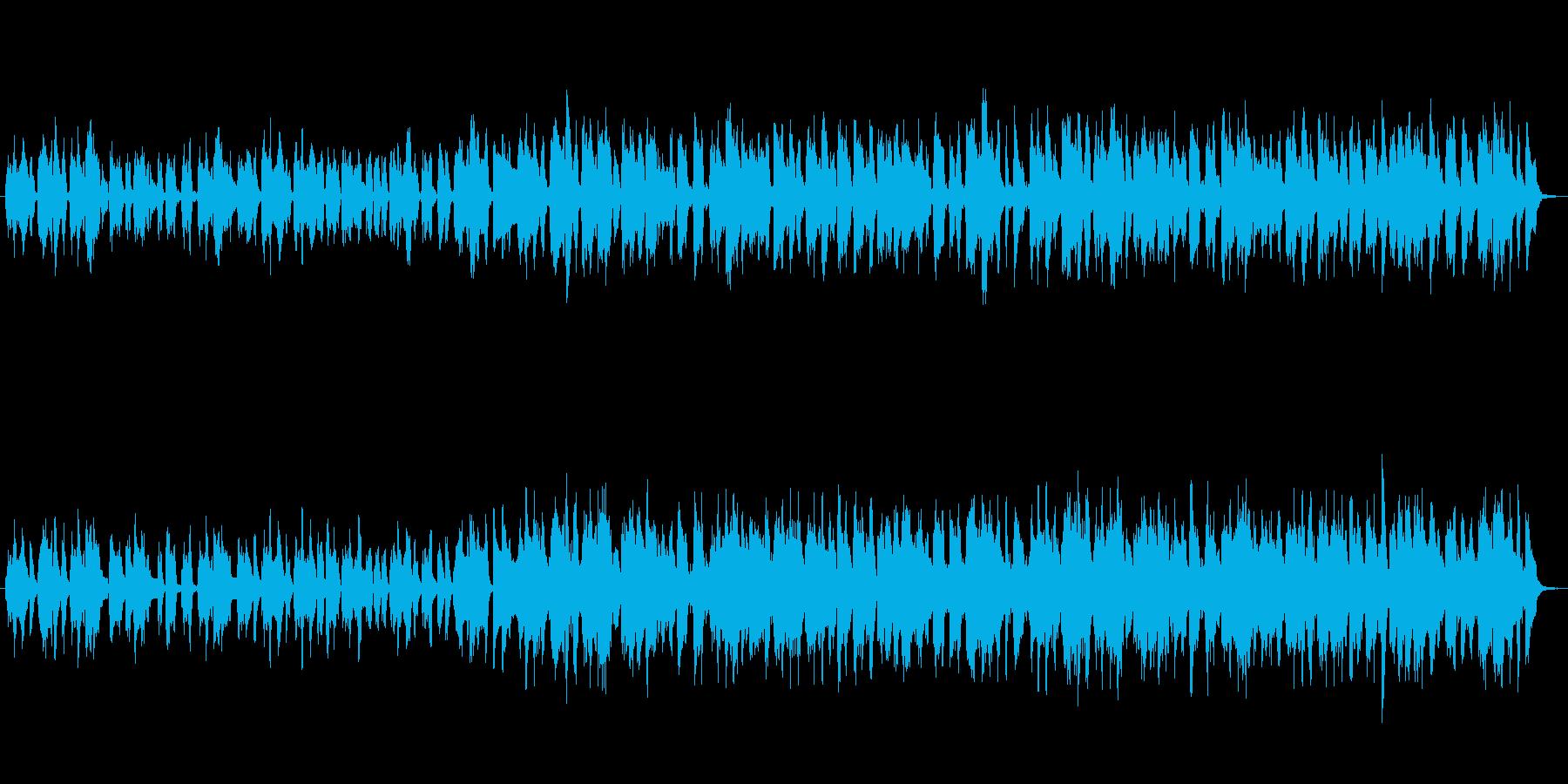 軽快に散歩するBGMの再生済みの波形