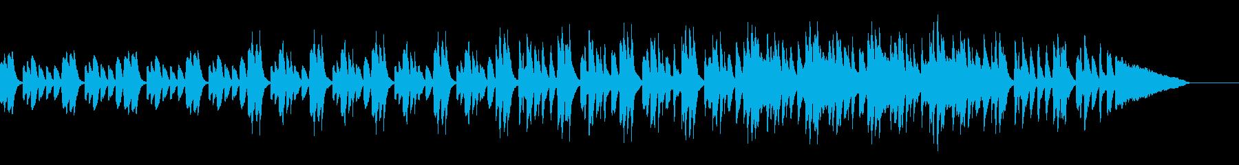 謎を解く時の不思議感あふれる曲の再生済みの波形